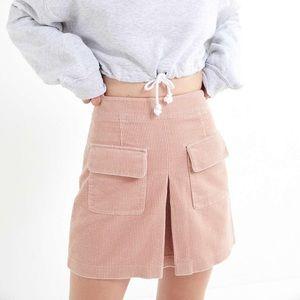 NWT BDG Pink Corduroy Utility Pocket Mini Skirt XL